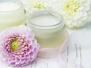 cream skin cream glass flowers dahlia pink cosmetics body care face cream
